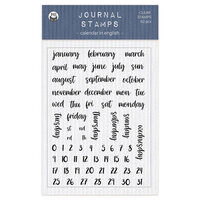 P13 - Chipboard Embellishments - Clear Photopolymer Stamps - Calendar