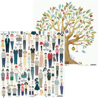 P13 - We Are Family Collection - 12 x 12 Double Sided Paper - 03