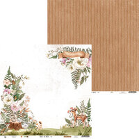 P13 - Forest Tea Party Collection - 12 x 12 Double Sided Paper - Number Four