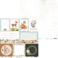 P13 - Forest Tea Party Collection - 12 x 12 Double Sided Paper - Number Five