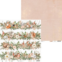 P13 - Forest Tea Party Collection - 12 x 12 Double Sided Paper - Number Six