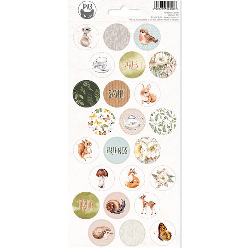P13 - Forest Tea Party Collection - Sticker Sheet Number Three