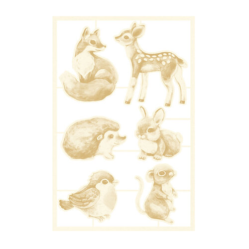 P13 - Forest Tea Party Collection - Chipboard Embellishments - Set 01