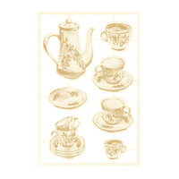 P13 - Forest Tea Party Collection - Chipboard Embellishments - Set 02