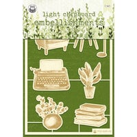 P13 - The Garden of Books Collection - Chipboard Embellishments - Set 01
