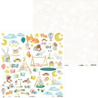 P13 - Good Night Collection - 12 x 12 Double Sided Paper - Sheet 07