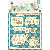 P13 - Good Night Collection - Light Chipboard Embellishments - Set 07