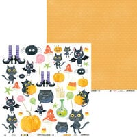 P13 - Happy Halloween Collection - 12 x 12 Double Sided Paper - Sheet 02