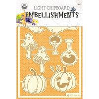 P13 - Happy Halloween Collection - Light Chipboard Embellishments - Set 01