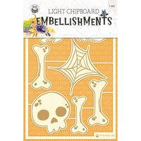 P13 - Happy Halloween Collection - Light Chipboard Embellishments - Set 02