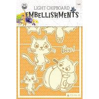 P13 - Happy Halloween Collection - Light Chipboard Embellishments - Set 03