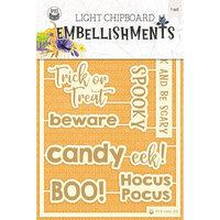 P13 - Happy Halloween Collection - Light Chipboard Embellishments - Set 05
