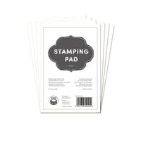 P13 - Cardstock - 4 x 6 Stamping Pad - White - 24 Pack