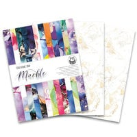 P13 - 6 x 8 Creative Paper Pad - Marble - 24 Pack