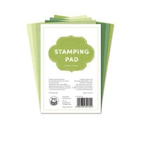 P13 - Cardstock - 4 x 6 Stamping Pad - Shades of Green - 24 Pack