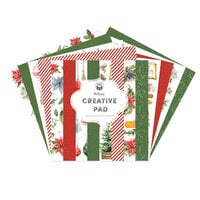 P13 - Cosy Winter Collection - 12 x 12 Paper Pad - Maxi Creative Pad - Red and Green