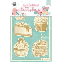 P13 - Sugar and Spice Collection - Light Chipboard Embellishments - Set 03