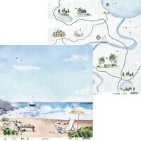 P13 - Beyond the Sea Collection - 12 x 12 Double Sided Paper - 02