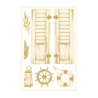 P13 - Beyond the Sea Collection - Chipboard Embellishments - Set 01