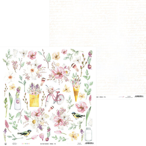 P13 - The Four Seasons Collection - 12 x 12 Double Sided Paper - Spring 07a