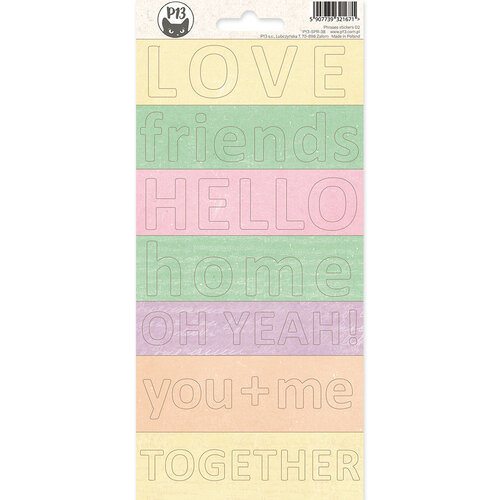P13 - The Four Seasons Collection - Phrases Sticker Sheet 2