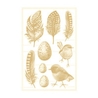 P13 - The Four Seasons Collection - Chipboard Embellishments - Spring Set 02