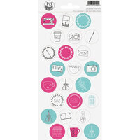 P13 - Cardstock Stickers - Sheet 18 - Hobby