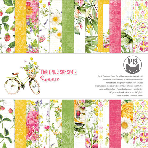 P13 - The Four Seasons Collection - 6 x 6 Summer Paper Pad