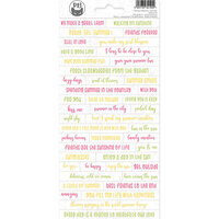 P13 - The Four Seasons Collection - Cardstock Sticker Sheet - Summer 01