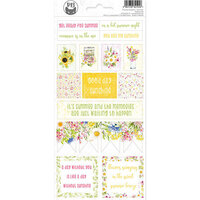 P13 - The Four Seasons Collection - Cardstock Sticker Sheet - Summer 02