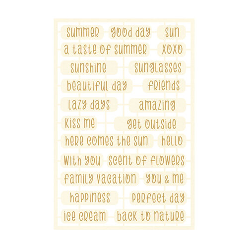 P13 - The Four Seasons Collection - Chipboard Embellishments - Summer Set 06