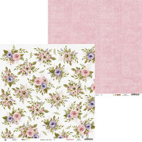 P13 - Stitched with Love Collection - 12 x 12 Double Sided Paper - 01