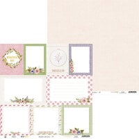 P13 - Stitched with Love Collection - 12 x 12 Double Sided Paper - 05