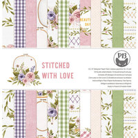 P13 - Stitched with Love Collection - 12 x 12 Paper Pad