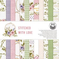 P13 - Stitched with Love Collection - 6 x 6 Paper Pad