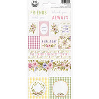 P13 - Stitched with Love Collection - Cardstock Stickers - Sheet 02