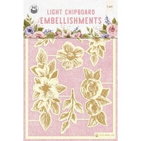 P13 - Stitched with Love Collection - Chipboard Embellishments - Set 01