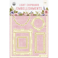 P13 - Stitched with Love Collection - Chipboard Embellishments - Set 02