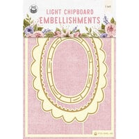 P13 - Stitched with Love Collection - Chipboard Embellishments - Set 03