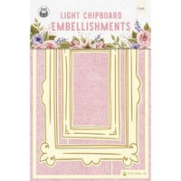 P13 - Stitched with Love Collection - Chipboard Embellishments - Set 04