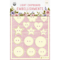 P13 - Stitched with Love Collection - Chipboard Embellishments - Set 06