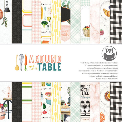P13 - Around the Table Collection - 6 x 6 Paper Pad