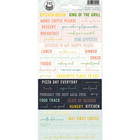 P13 - Around the Table Collection - Cardstock Sticker Sheet - One