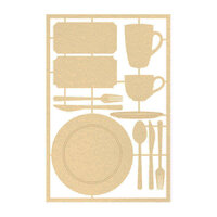 P13 - Around the Table Collection - Chipboard Embellishments - Set 01