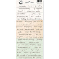 P13 - Till We Meet Again Collection - Cardstock Sticker Sheet - One