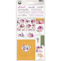 P13 - Time To Relax Collection - Chipboard Stickers - Sheet 01
