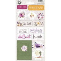 P13 - Time To Relax Collection - Chipboard Stickers - Sheet 02