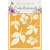 P13 - Time To Relax Collection - Light Chipboard Embellishments - Set 01