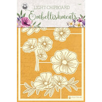 P13 - Time To Relax Collection - Light Chipboard Embellishments - Set 02