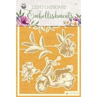 P13 - Time To Relax Collection - Light Chipboard Embellishments - Set 03